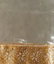 Dinning table cover,transperent sheet six sitter Golden border