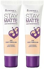 2 Rimmel Stay Matte Foundation Light Porcelain 010 1 oz New Free Ship