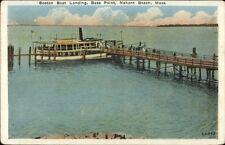 Nahant Beach Bass Point MA Boaton Boat Landing c1920 Postcard