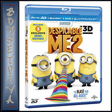 DESPICABLE ME 2 - BLU RAY 3D + BLU RAY + UV COPY  **BRAND NEW**