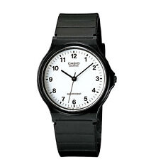 Casio MQ24-7B, Classic Analog Watch, Black Resin, White Dial, Water Resistant