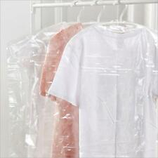 20pcs Clothes Cover Garment Suit Dress Dust Clear Plastic Hanging Storage Bag