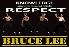 """Bruce Lee RESPECT Quote Poster 19""""x 13"""""""