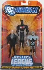 DC Universe JLU JUSTICE LEAGUE 3 PACK BRUCE WAYNE BATMAN Beyond WARHAWK New