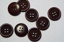 10pc 15mm Walnut Brown Mock Wood Effect Coat Cardigan Kids Button 2685