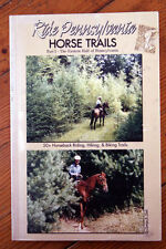 Ride Pennsylvania HORSE TRAILS Part I - Eastern Half of PA SIGNED Carolyn Cook