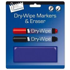 Whiteboard Markers and Eraser Pack of 2 Just Stationery for Home, Office, School