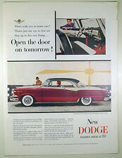 Vintage 1955 DODGE LANCER Automobile Large Magazine Print Ad
