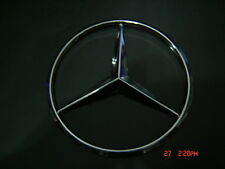 WILL FIT MERCEDES  9 cm Emblem LOGO STAR BADGE Chrome ABS  NEW NO Pins