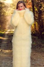 Hand knitted sweater long dress SUPERTANYA IVORY SLOUCHY Fuzzy Handmade ON SALE