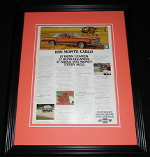 1975 Chevrolet Monte Carlo Framed 11x14 ORIGINAL Vintage Advertisement