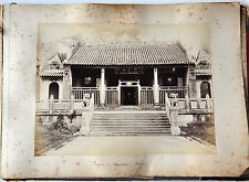2 ANTIQUE PHOTO CHINESE CHINA CANTON HONGKONG MACAU ALBUMEN PEOPLE 1887 #33