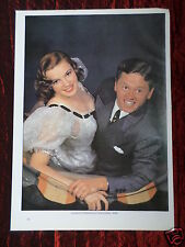 MICKEY ROONEY & JUDY GARLAND- FILM STARS - 1 PAGE PICTURE - CLIPPING / CUTTING