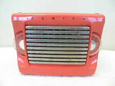 VINTAGE OLD 50s ZENITH MID CENTURY ANTIQUE VERY RARE COLOR  PLASTIC TUBE RADIO