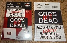 2 PKGS GOD'S NOT DEAD THE MOVIE MOVEABLE STICKERS DAYSPRING PURE FLIX SCHOOL