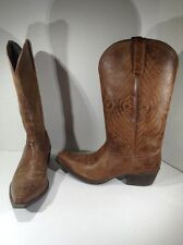 ARIAT Womens Round Up X Toe Brown Western Cowboy Boots Shoes Size 9 ZD-1173