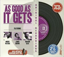 AS GOOD AS IT GETS 3 CD BOX SET - MUDDY WATERS * JAMES BROWN & MARVIN GAYE