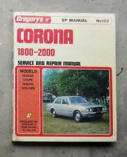 TOYOTA CORONA 2000 Genuine GREGORYS Service Repair Workshop Manual 1800 OHC RT