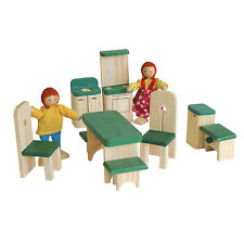 Timbertop woode doll houses furniture kitchen/dining x 9 pieces - pretend play