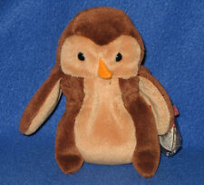 TY HOOT the OWL BEANIE BABY - MINT with MINT TAGS