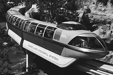 Disneyland Monorail b&w 24X36 inch poster, mickey mouse
