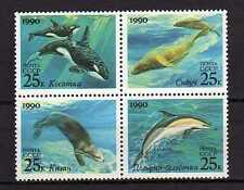 15258) RUSSIA 1990 MNH** Nuovi** Whales - Dolphins - Sea Lion