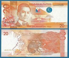 Philippines 20 Piso UNC P 206 New date 2016 G Low Shipping! Combine FREE!