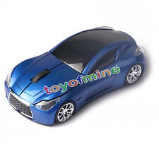 Vendita Calda  Wireless 3D Blu Infiniti Car/Auto Usb Optical Gaming Mouse Mice