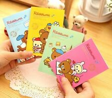Cartoon Rilakkuma Bear Suture Notepad Memo Diary Notebook 20 Pages ~1pc~♫