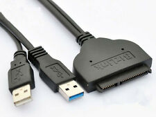 "5Gbps USB 3.0 to SATA 22 Pin 2.5"" Hard disk driver Adapter With USB Power cable"