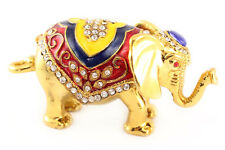 Big Elephant Jewelry Trinket Box Animal Collectible Elephant Thailand Gift 02055