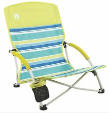 Coleman Utopia Breeze Beach Low Sling Camping Chair w/ Cup Holder & Carry Bag