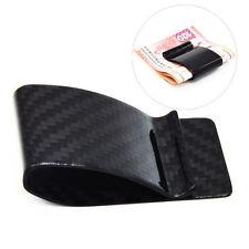 Carbon Fiber Glossy Money Clip Holder Business Office Credit Card Cash Wallet