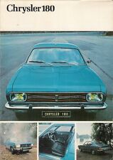 Chrysler Simca 180 1970-71 UK Market Preview Foldout Sales Brochure