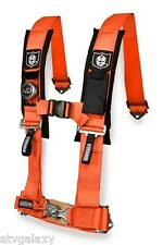 "Pro Armor Orange Seat Belt Harness 4 Point 2"" Padded Polaris RZR1000XP RZR 1000"