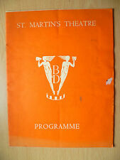 ST. MARTIN'S THEATRE PROGRAMME 1937- WHEN WE ARE MARRIED by J B Priestley