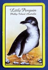 VINTAGE SWAP CARD. LITTLE FAIRY PENGUIN. PHILLIP ISLAND AUSTRALIA. RARE