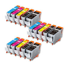 15 Replacement Printer Ink Set for Canon PGI-5BK CLI-8 MP610 MP800 MP810 MX850
