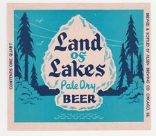 Land of Lakes Pale Dry Beer Label