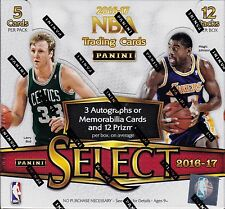 2016-17 Panini Select Basketball sealed hobby box 12 packs of 5 NBA cards 3 hits