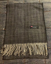 MEN'S 100% Cashmere Scarf Gray  Herringbone Made in Scotland  Warm Soft NEW