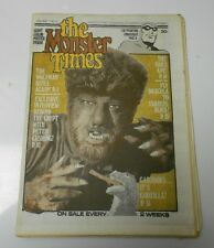 1972 MONSTER TIMES v.1 #14 WOLFMAN w/ Poster Dracula GODZILLA FVF Uncirculated