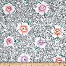 KAFFE FASSETT Fabric Fat Quarter Cotton Craft Quilting Dianthus - Pinks