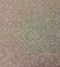 Lee Jofa Tone on Tone Ethnic Upholstery Fabric- Chantilly Weave / Grey 3.25 yd