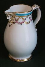 ANTIQUE FINE WHITE PORCELAIN CLASSICAL STYLE CLARET WINE JUG WITH BACCHUS SPOUT