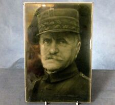 RARE LARGE FRAMED WWI. TILE PLAQUE by J.H. BARRATT & Co. - GENERAL FOCH