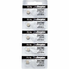 5 x Energizer 364 Watch Batteries, 0% MERCURY equivilate SR621SW