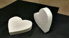 """12 styrofoam hearts 11"""" x 10"""" x2"""" thick.great for decorations.fake cakes"""