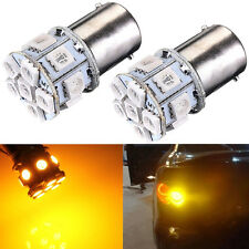 2 x P21W 382 BA15S 1156 13 SMD 5050 LED CAR Light Lamp Bulbs DC 12V YELLOW AMBER