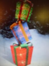 """52"""" LIGHTED CHRISTMAS PRESENTS STACK GIFT BOXES Pre Lit Yard Art Display Decor"""